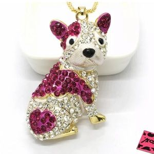Betsey Johnson Bulldog Necklace ➰🆕🌿🆕➰